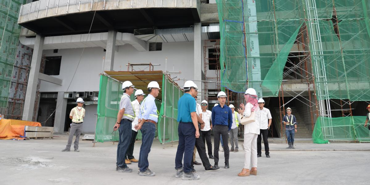 Public Private Partnership Unit, Prime Minister's Department Officers visit to Construction Site of Sabah International Convention Centre | 23 March 2018