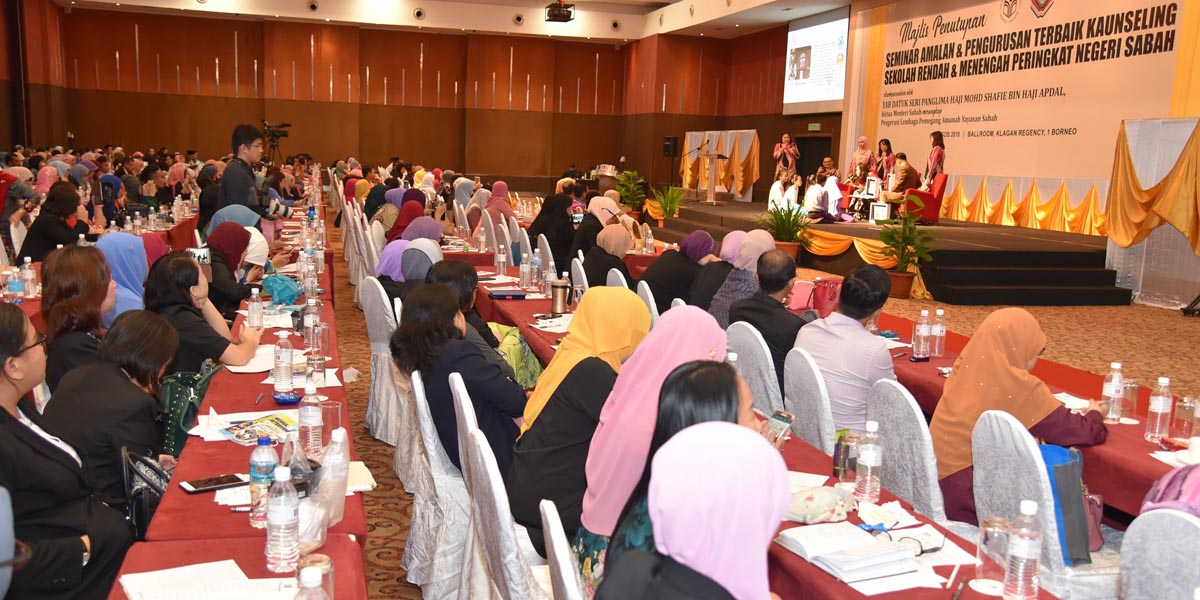 Closing Ceremony of the Best Counseling Practice & Management Seminar for Primary & Secondary School Sabah State Level 2018 / Ballroom, Klagan Regency Hotel, 1 Borneo / 2 August 2018
